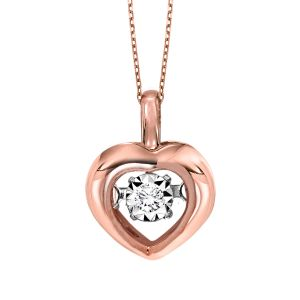 14k White Gold Diamond Rhythm Of Love Pendant